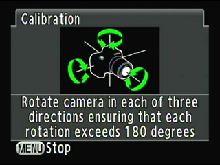 Rotate the camera at least 180¡ë in each direction.